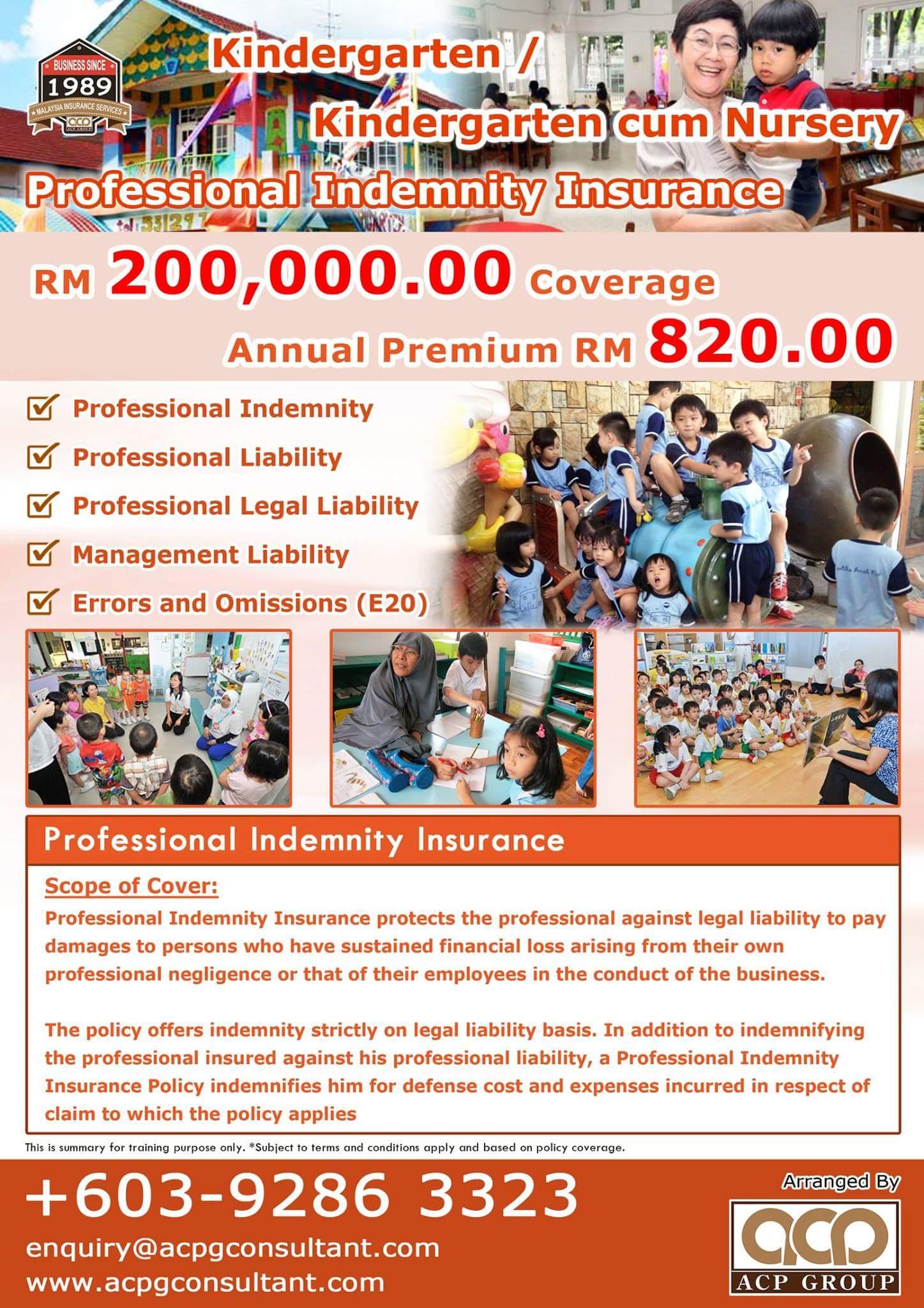 Kindergarten and Nursery Professional Indemnity Insurance ...